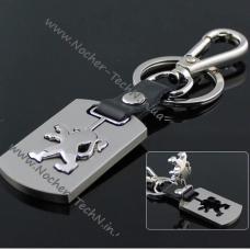 Брелок Пежо   Peugeot   на ключи, стальной, оригинальные авто брелки
