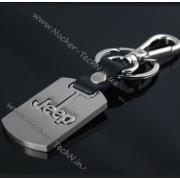 Брелок Джип (JEEP) на ключи авто, оригинальные автобрелки, стальной