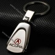 Авто брелок Акура (Acura) метал в овальной форме как оригинальный подарок