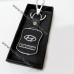 Авто брелок Хюндай (Hyundai) на ключи с кож.вставкой, на подарок автолюбителю