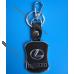 Брелок Лексус (Lexus) на ключи автомобиля с кожаной вставкой, оригинал.