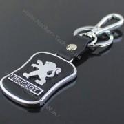 Авто брелок Peugeot (Пежо) на ключи, с кож.вставкой, оригинальные брелки