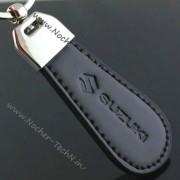 Авто брелок Сузуки (Suzuki) кожаный как оригинальный подарок авто-мотолюбителю