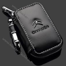 Ключница Citroen (Ситроен) кожаный чехол для авто сигнализации с логотипом