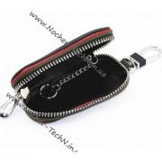 Кожаный чехол для ключей Porsche (Порше), ключница с логотипом авто