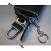 Чехол кожаный для ключей Renault (Рено), ключница с логотипом для ключа авто сигнализации