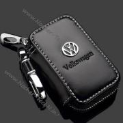 Ключница Фольксваген (VolksWagen) с логотипом, кожаный чехол для ключей авто