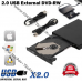 Внешний CD- DVD-привод с интерфейсом USB, CD-Rom дисковод для чтения