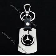 Брелок Мерседес (Mercedes-Benz) на ключи авто, стальной, оригинальные авто брелки