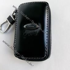 Ключница Форд Ford с логотипом, кожаный чехол для ключа авто