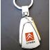 Брелок Ситроен (Citroen) для авто на ключи, овальный, металл