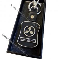Брелок Митсубиси (Mitsubishi) Lancer с кож.вставкой, авто брелки на ключи как подарок