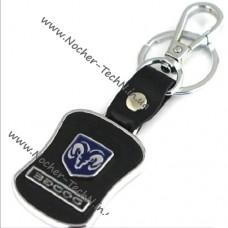 Авто брелок Додж Dodge на ключи как стильный подарок с кожаной вставкой