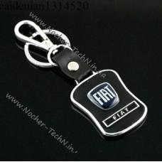 Брелок Фиат (FIAT) на ключи с кож.вставкой, оригинальные автобрелки на подарок