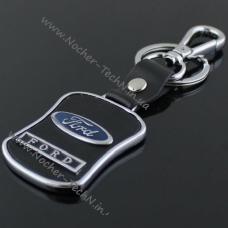 Авто брелок Форд (Ford) на ключи с кож.вставкой как подарок автолюбителю