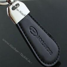 Брелок на ключи Хюндай (hyundai), кожаный - авто брелки для ключей