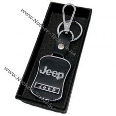 Авто брелок Джип Jeep на ключи авто с кожаной вставкой как оригинальный подарок