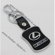 Брелок Лексус (Lexus) на ключи автомобиля с кожаной вставкой как оригинальный подарок