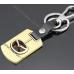Брелок Мазда (Mazda) для ключей авто стальной, брелки автомобильные на ключи