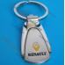 Автомобильный брелок Рено (RENAULT) на ключи авто, овальный, оригинал
