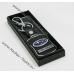 Брелок Subaru Forester (Субару) на ключи автомобиля с кожаной вставкой