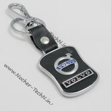Брелок Volvo (Вольво) на ключи авто с кожаной вставкой