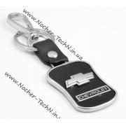 Брелок Шевроле (Chevrolet) на ключи авто с кожаной вставкой (оригинал)