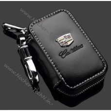 Ключница Cadillac с логотипом, кожаный чехол для ключа авто сигнализации Кадиллак