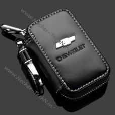 Ключница Шевроле (Chevrolet), кожаный чехол для ключа автосигнализации