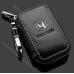 Ключница Honda (Хонда) для ключа автосигнализации, кожаный чехол с логотипом
