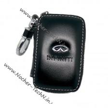 Ключница Инфинити (Infiniti) с логотипом, кожаный чехол для ключа автосигнализации