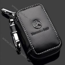 Ключница (кожаный чехол) для ключей авто Мерседес Mercedes с логотипом