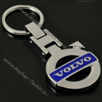 Брелок Volvo в виде логотипа на ключи авто, металл, шарнирное соединение
