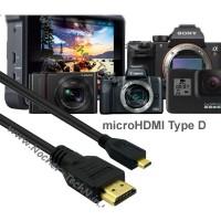 Кабель HDMI тип D для фотоаппарата Canon SX740HS, G9X, EOS M100, SX610HS, G7X Mark II