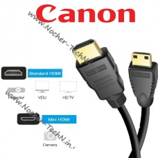 Кабель HDMI тип C HTC-100 для фотоаппарата Canon EOS 250D, 6D mark II, 700D, 1200D, 7D mark 4