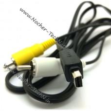 Кабель AV к телевизору CB-AVC3 USB56 фотоаппарата Olympus FE-140, SP-610UZ, мью 830, TG-830