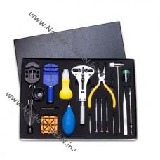 Набор инструментов часовщика №18 в подарочной коробке для ремонта и обслуживания часов