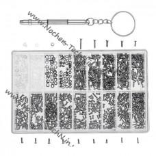 1000шт. мелкие винтики, болтики, гайки для ремонта часов, очков и другой мелкой техники