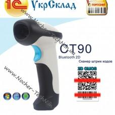 Беспроводной 1D 2D Bluetooth (блютуз) сканер штрих кода CILICO CT90 для Android / Windows