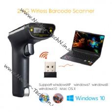 Сканер штрих кодов Eyoyo EY-007S беспроводной, префикс | суффикс F7 для 1С, 1D лазер