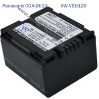 Аккумулятор CGA-DU12, VW-VBD120 1050mAh для видеокамер Panasonic NV-GS180, VDR-D250, M70, GS55