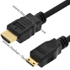 Кабель mini HDMI на HDMI для видеокамер Sony hdr-cx130, cx180, CX260