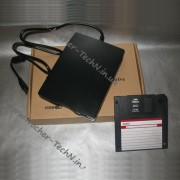 Дисковод флоппи для дискет 1.44Мб, внешний USB дисковод - Floppy External