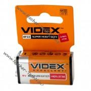 Батарейка тип крона 9V 6F22 (солевая) Videx и другие марки