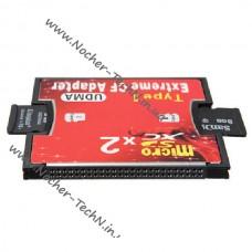 Адаптер CompactFlash CF под карту памяти MicroSD, 2x T-flash