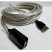 удлинитель USB 2.0 5метров кабель активный-репитер, для компьютера